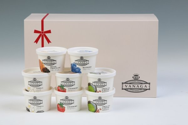画像1: VANAGA8個入り (スーパープレミアムアイスクリーム)冷凍 (1)